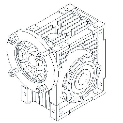 Jrstd Single Stage Wormgear Box With Iec Input Jrstd40 I10 Mf 71b14a