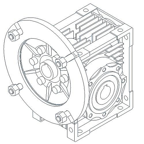 Jrstd Single Stage Wormgear Box With Iec Input Jrstd150 I60 Mf 132b5